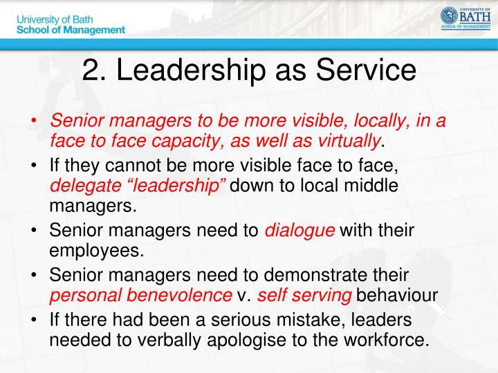 2. Leadership as Service