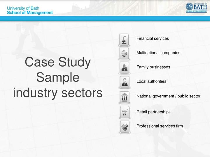 Case Study Sample  industry sectors