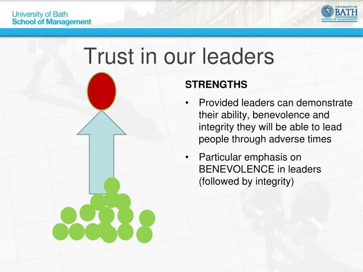 Trust in our leaders