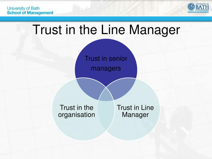 Trust in the Line Manager