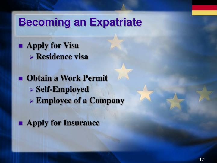 Becoming an Expatriate