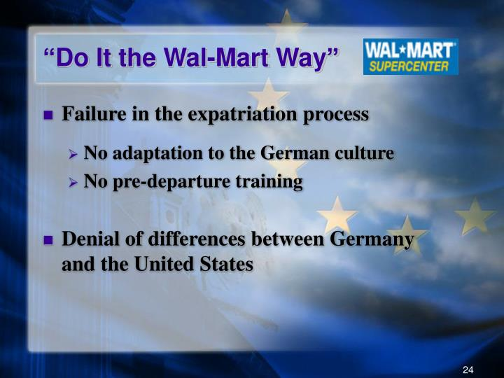 """Do It the Wal-Mart Way"""