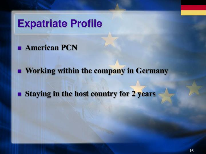 Expatriate Profile