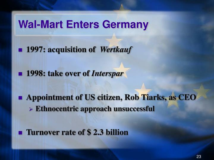 Wal-Mart Enters Germany