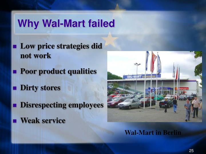 Why Wal-Mart failed