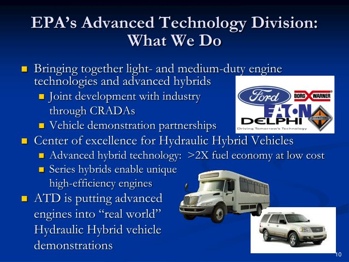 EPA's Advanced Technology Division:  What We Do
