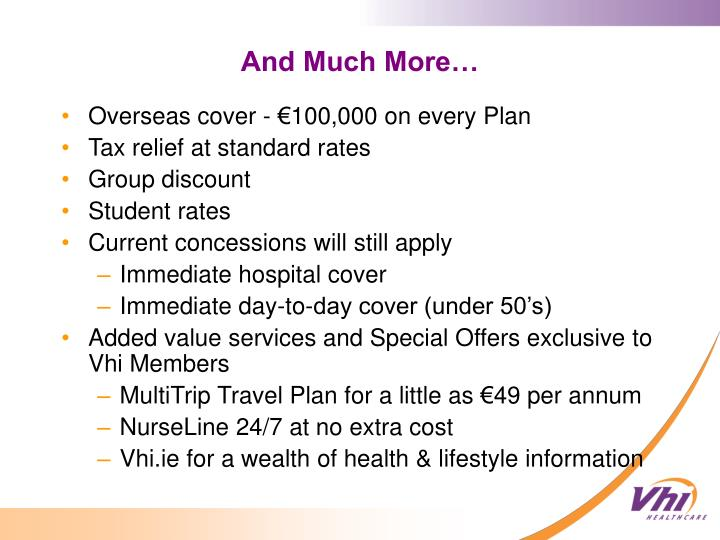 Overseas cover - €100,000 on every Plan