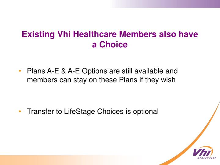 Plans A-E & A-E Options are still available and members can stay on these Plans if they wish