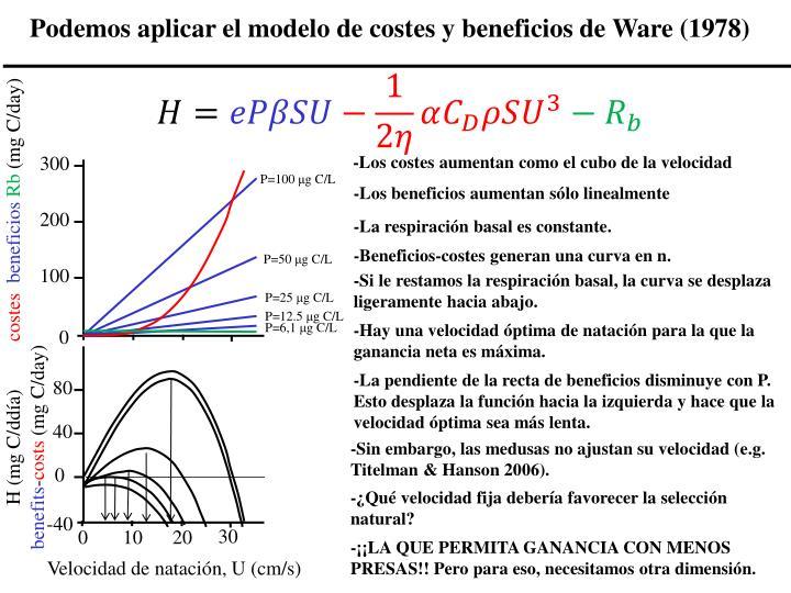 Podemos aplicar el modelo de costes y beneficios de