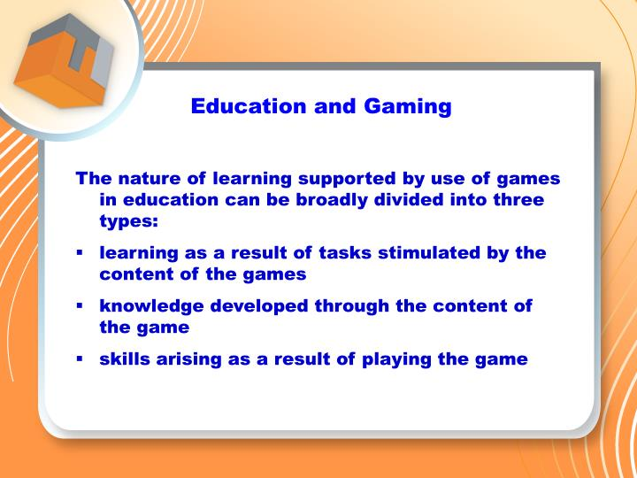 Education and Gaming