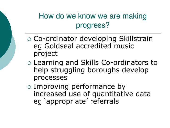 How do we know we are making progress?