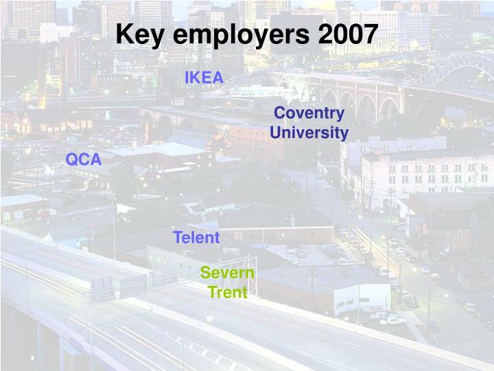 Key employers 2007