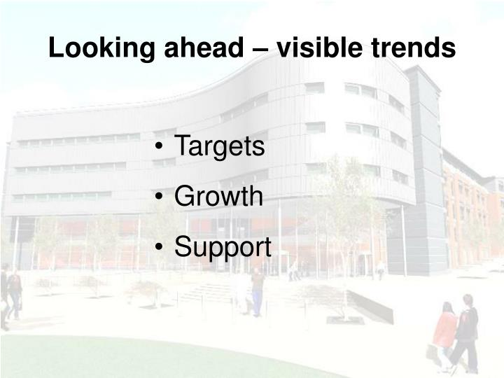 Looking ahead – visible trends