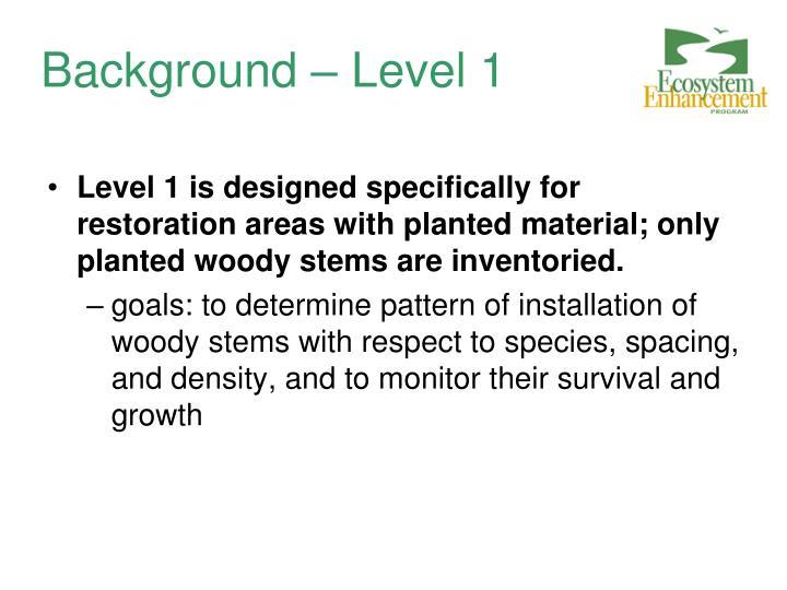 Background – Level 1