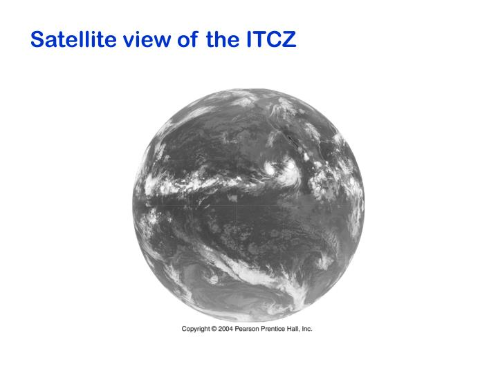 Satellite view of the ITCZ