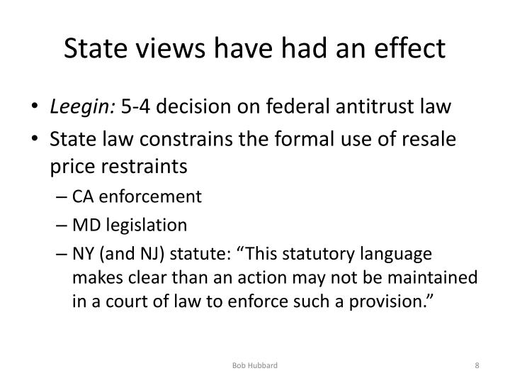 State views have had an effect