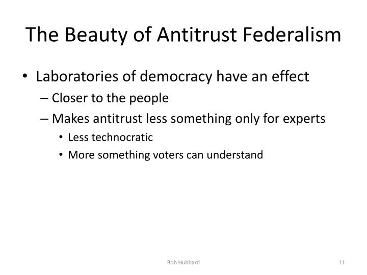The Beauty of Antitrust Federalism