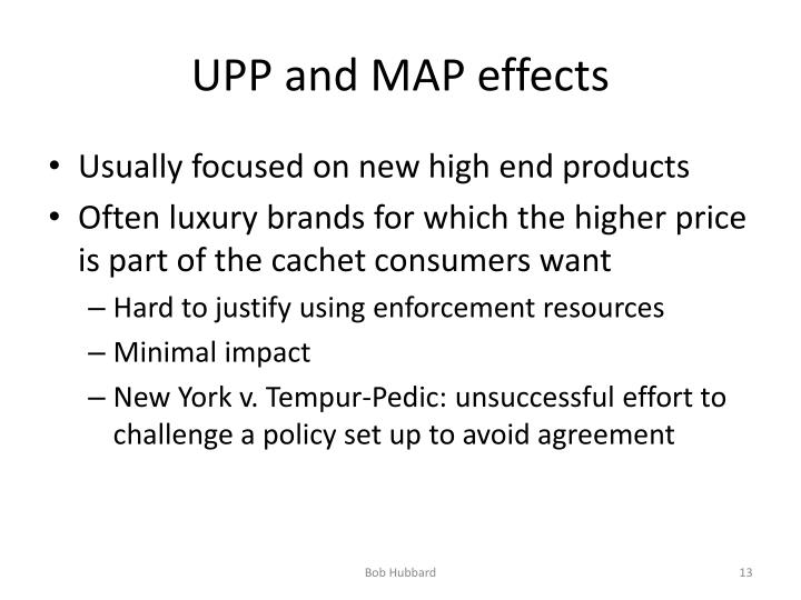 UPP and MAP effects