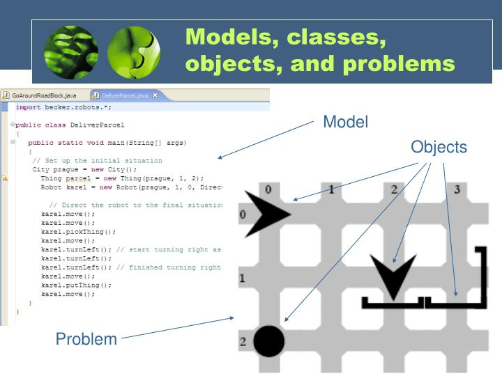 Models, classes, objects, and problems