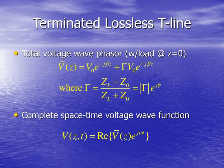 Terminated Lossless T-line