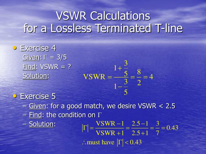 VSWR Calculations