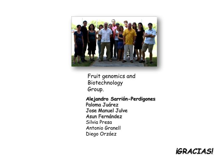 Fruit genomics and Biotechnology Group.