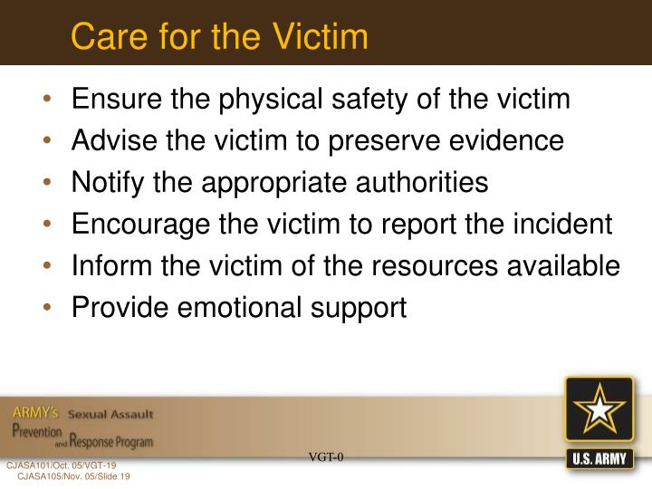 Care for the Victim