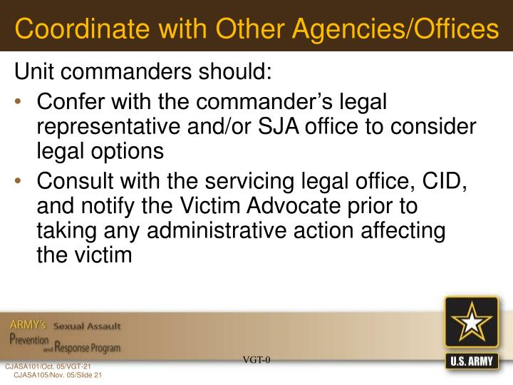Coordinate with Other Agencies/Offices