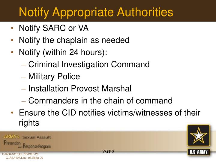 Notify Appropriate Authorities