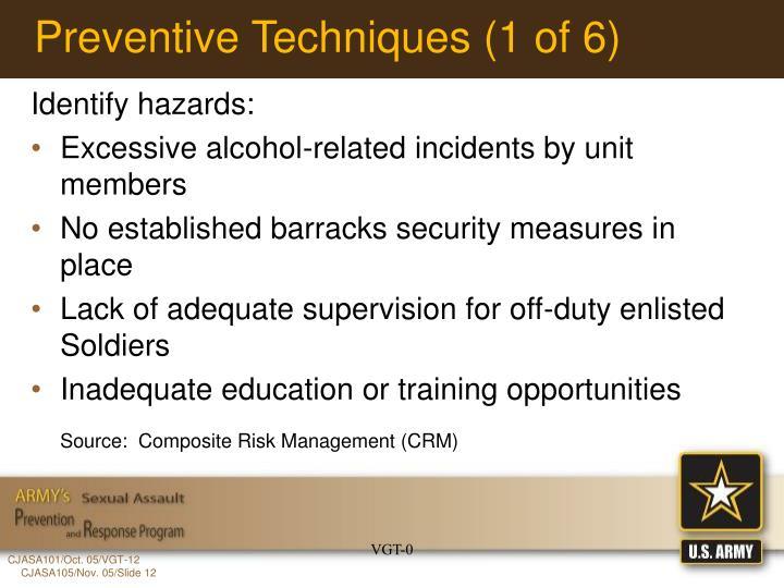 Preventive Techniques (1 of 6)