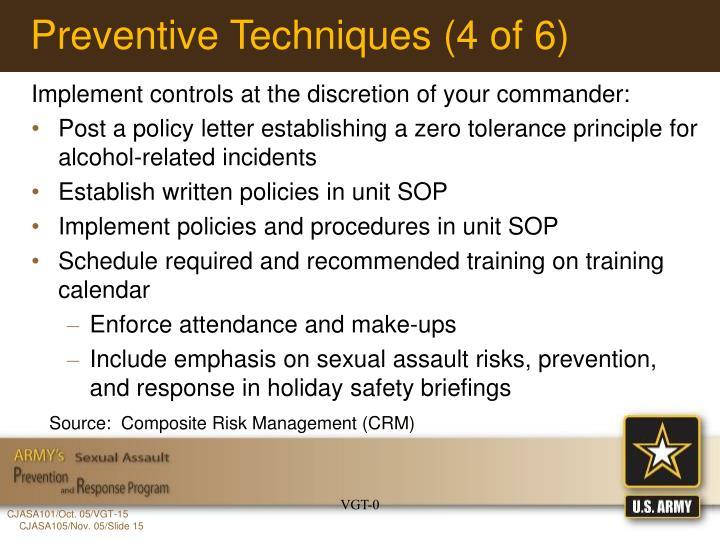 Preventive Techniques (4 of 6)