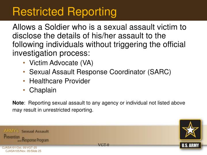 Restricted Reporting