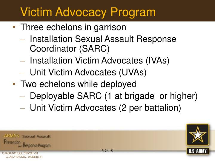 Victim Advocacy Program