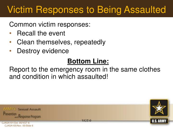 Victim Responses to Being Assaulted