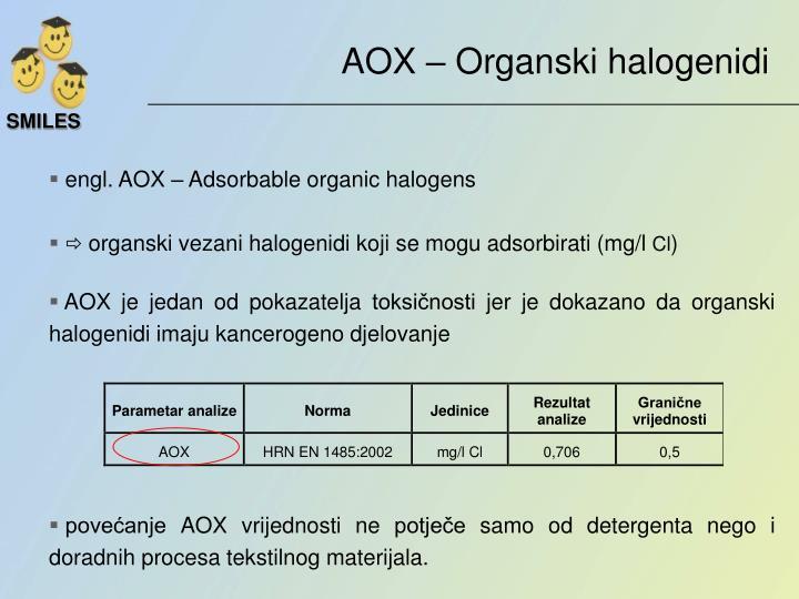 AOX – Organski halogenidi