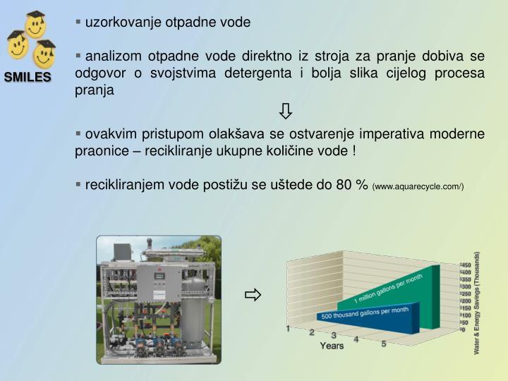 uzorkovanje otpadne vode