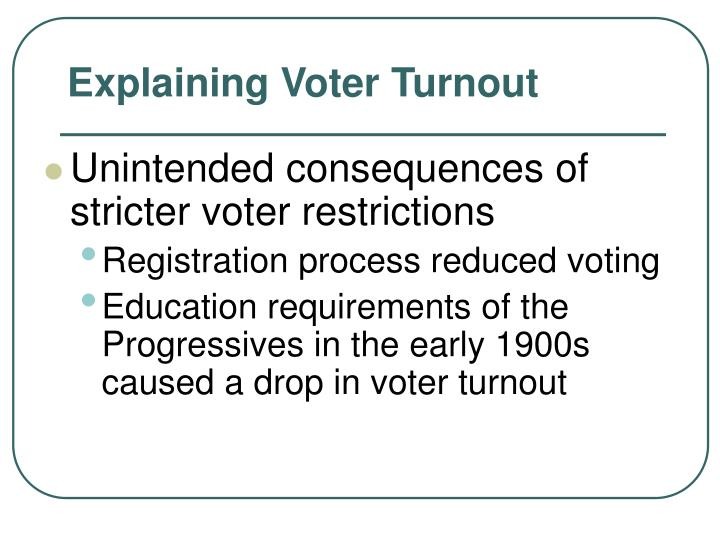 Unintended consequences of stricter voter restrictions