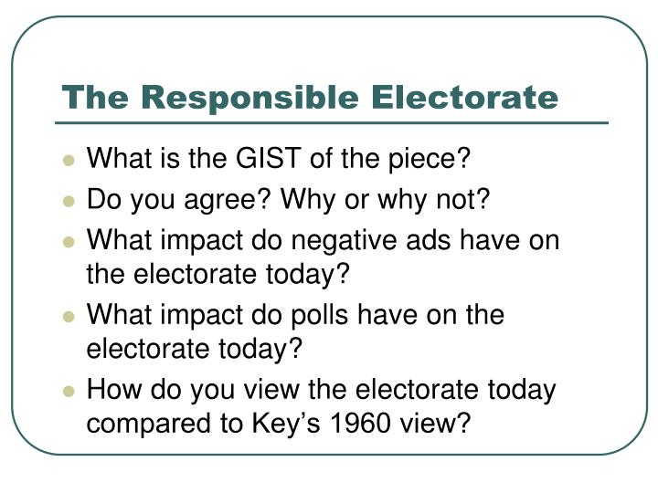 The Responsible Electorate