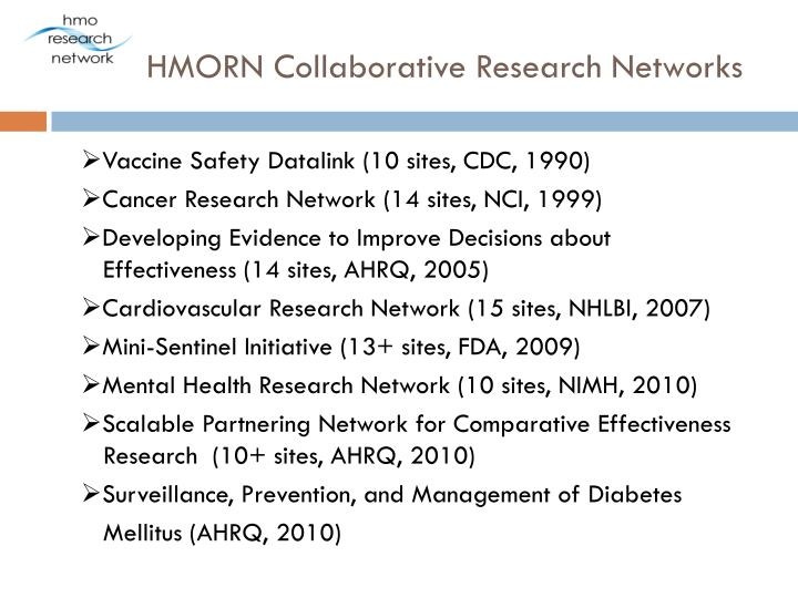 Hmorn collaborative research networks