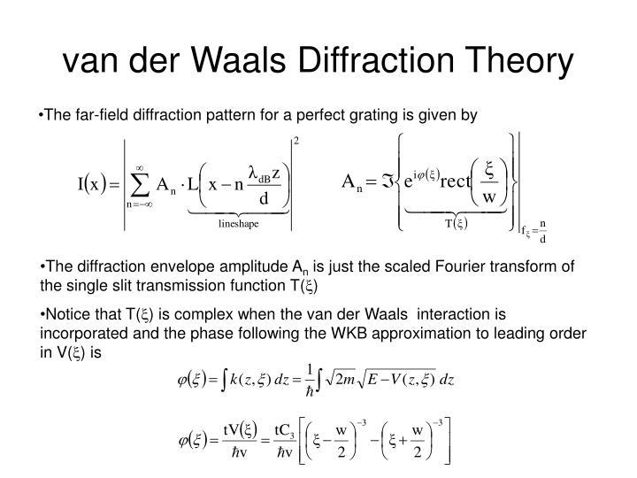 van der Waals Diffraction Theory