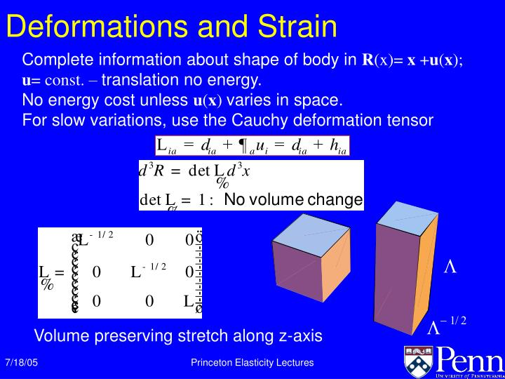 Deformations and Strain