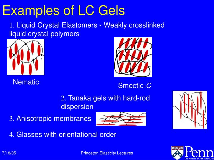 Examples of LC Gels