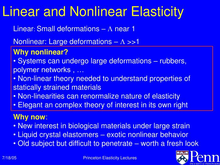 Linear and Nonlinear Elasticity
