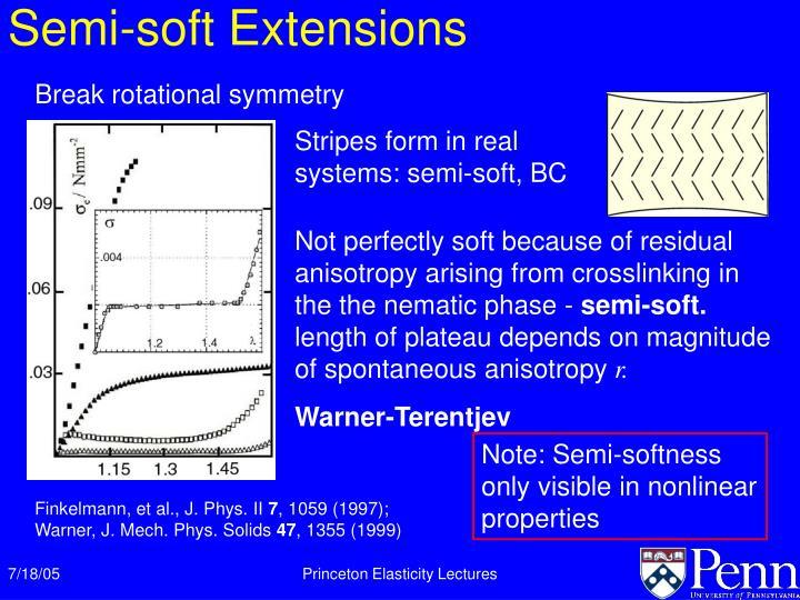 Semi-soft Extensions