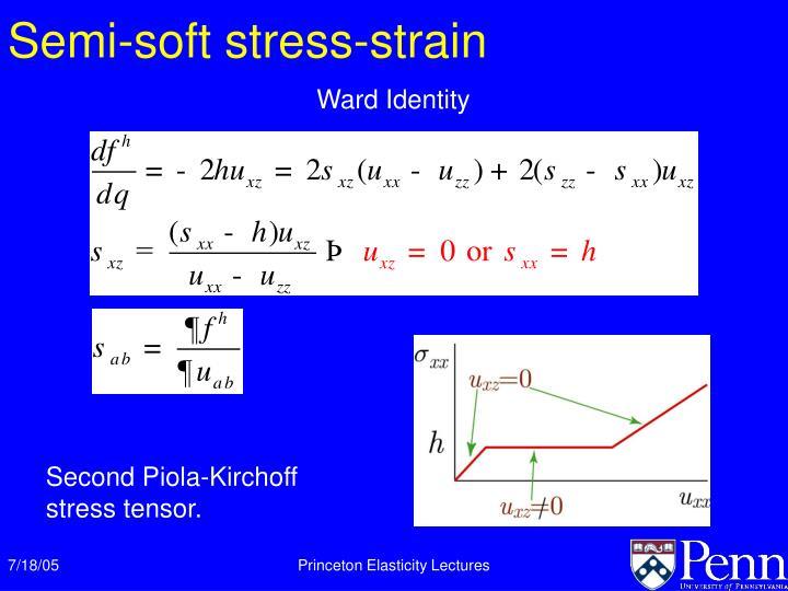 Semi-soft stress-strain