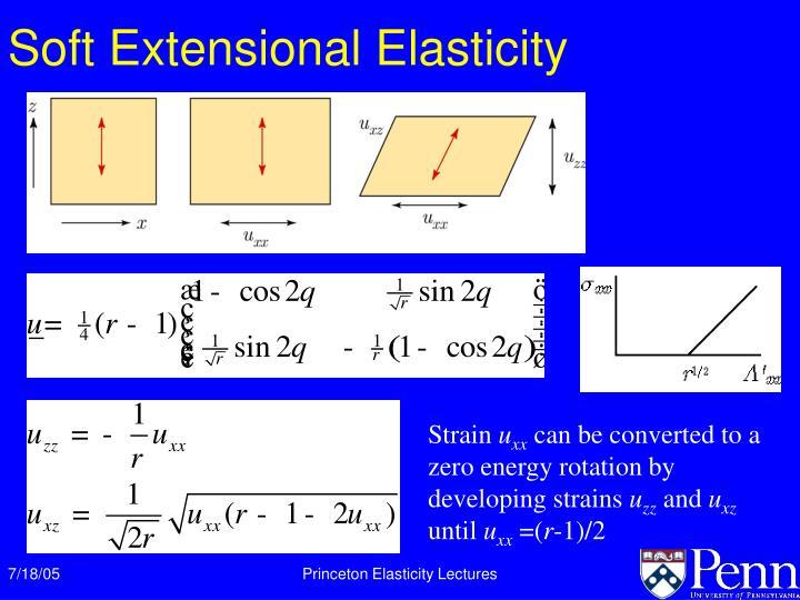 Soft Extensional Elasticity