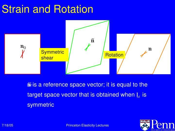 Strain and Rotation