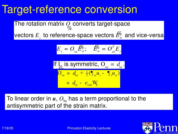 Target-reference conversion