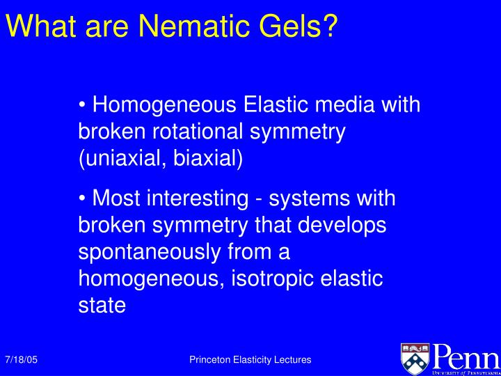 What are Nematic Gels?