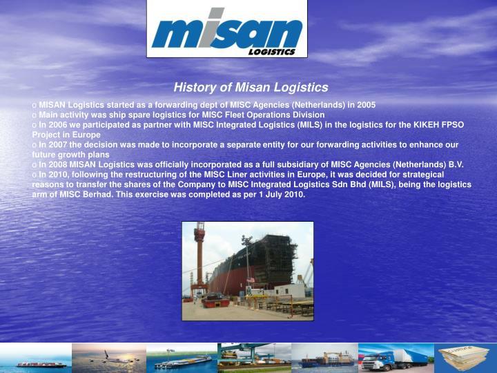 History of Misan Logistics